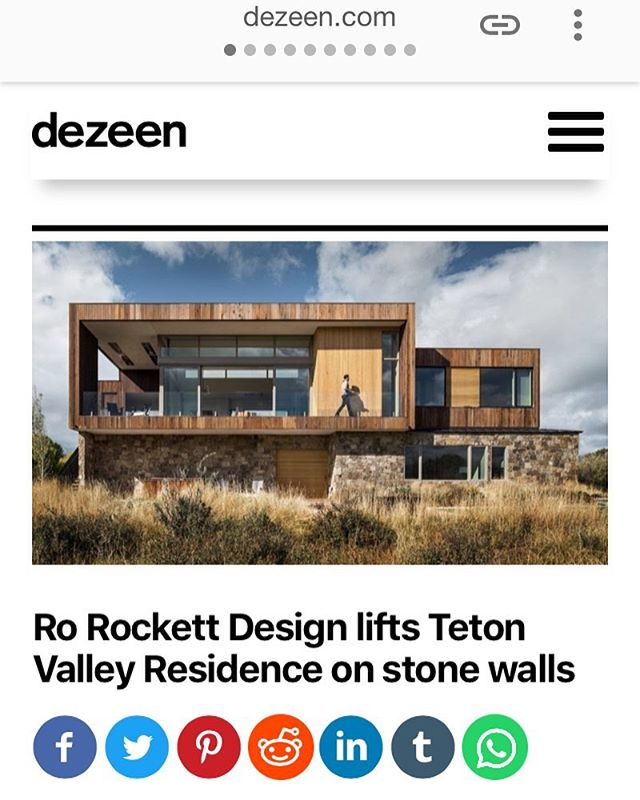 Head over to @dezeen and check out the great article covering @rorockettdesign's brilliant Idaho home. Congrats all!  #idahoarchitecture #architecturephotography #architecture