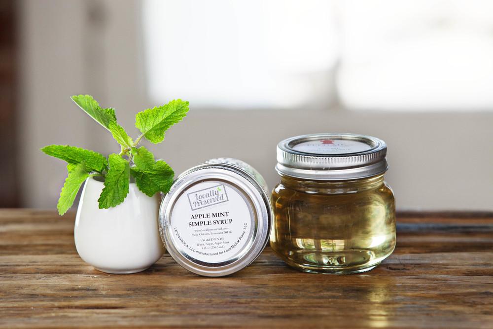 Apple Mint Simple Syrup 8oz