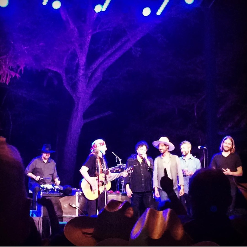 On stage with Willie at The Whitewater Amphitheater in New Braunfels, TX