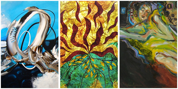 """Spring Show""   Esther Barend - Joyce DiBona - Kathy Ostman-Magnusen  March 5 to 21, 2015"