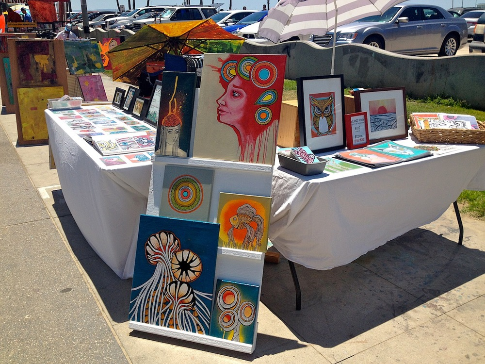 My Venice table setup display on May 2nd, 2014.