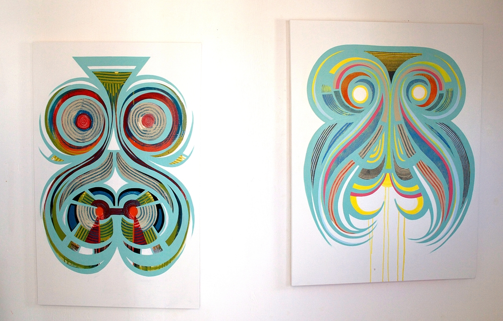 Two more new large abstracts on canvas, almost finished.