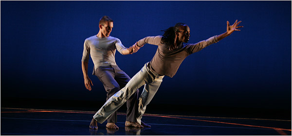 Werner Figar (left) and Fabrice Lamego in Slope of Enlightenment, photo by Marilynn K. Yee