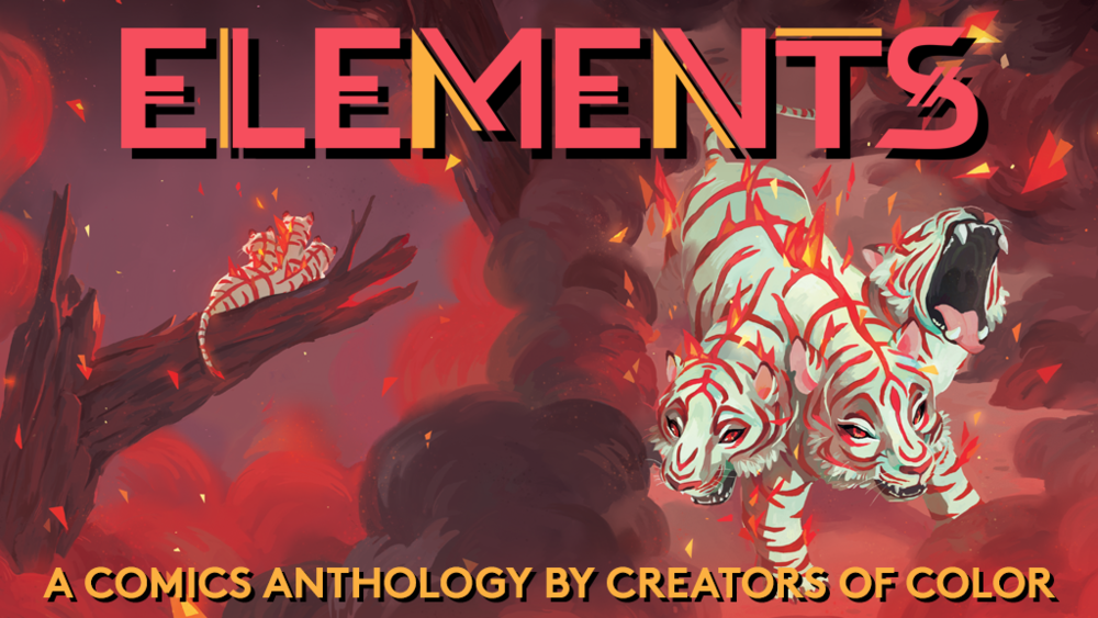 "Cover art for Beyond Press' ""Elements Anthology"" by Chrystin Garland."