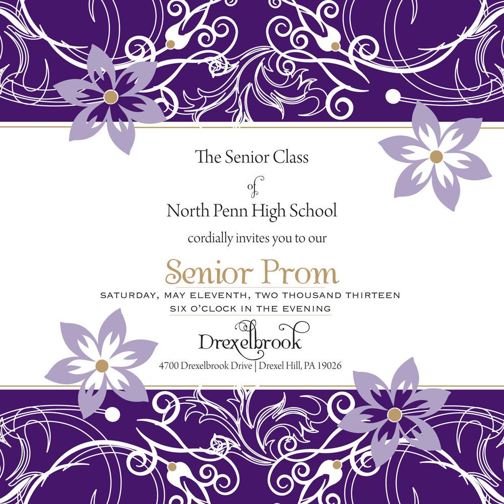 teens prom invitation - 1000×1000