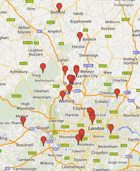 Click on the map to discover some of our favourite locations