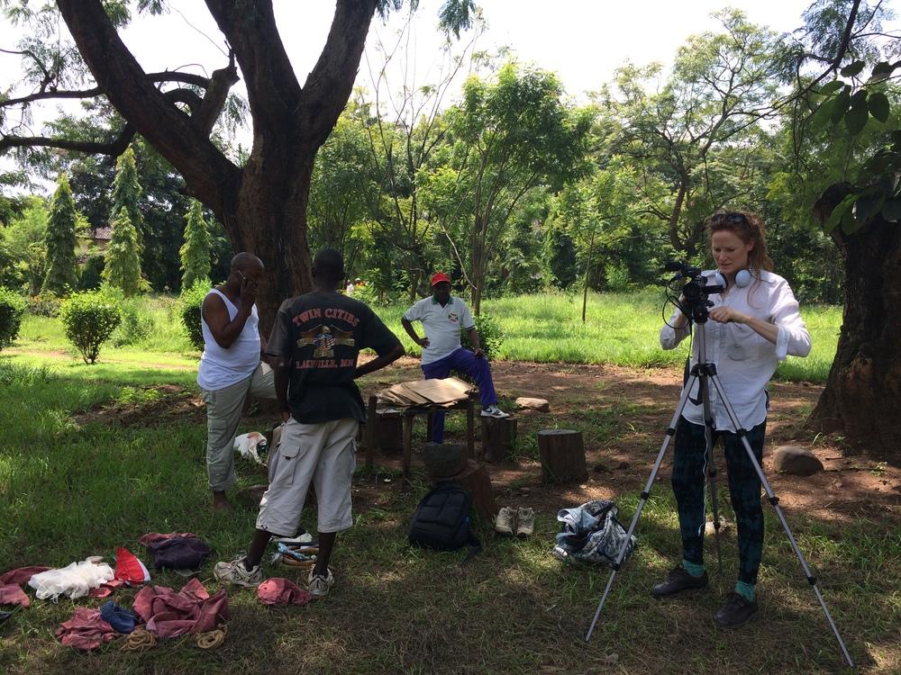 Filming in Bujumbura, 2014