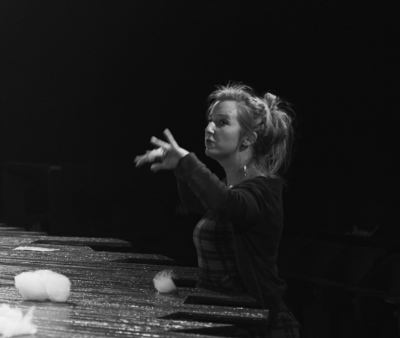 Susannah in rehearsal for POSH at the Nottingham Playhouse, 2015