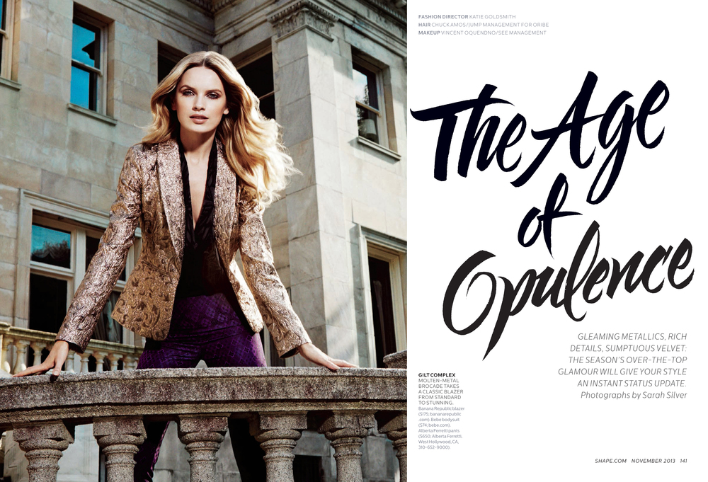 The Age of Opulence, November 2013