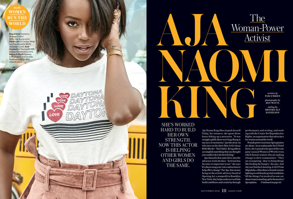 Aja Naomi King, September 2018