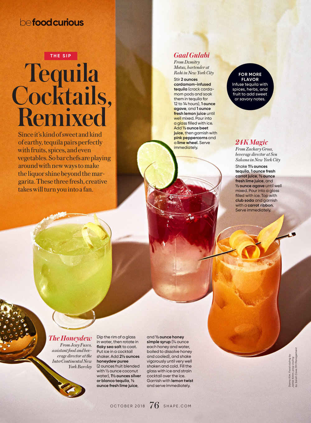 Tequila Cocktails, Remixed; October 2018