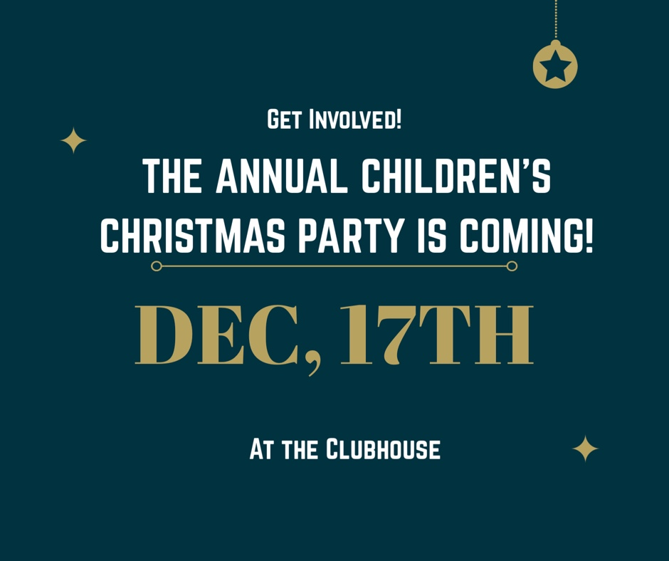 Join Us for the Annual Kids' Christmas Party at the Clubhouse!