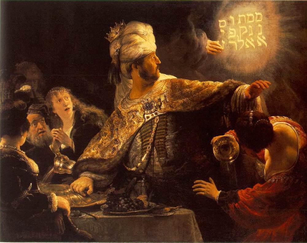 Rembrandt, Belshazzar's Feast , 1635