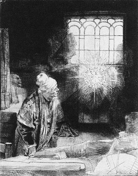 Rembrandt, The Alchemist, c. 1652