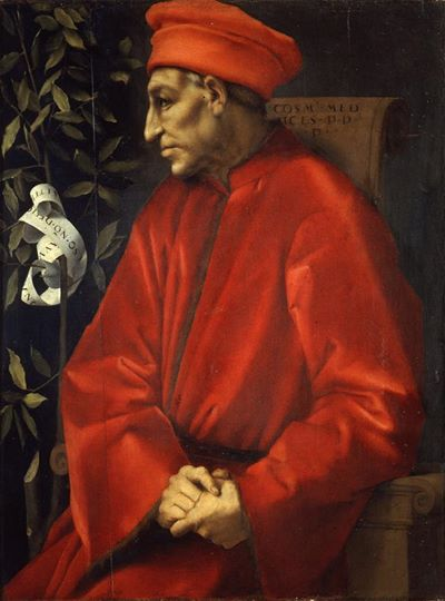 Jacopo Pontormo,   Cosimo de' Medici the Elder  , 1518
