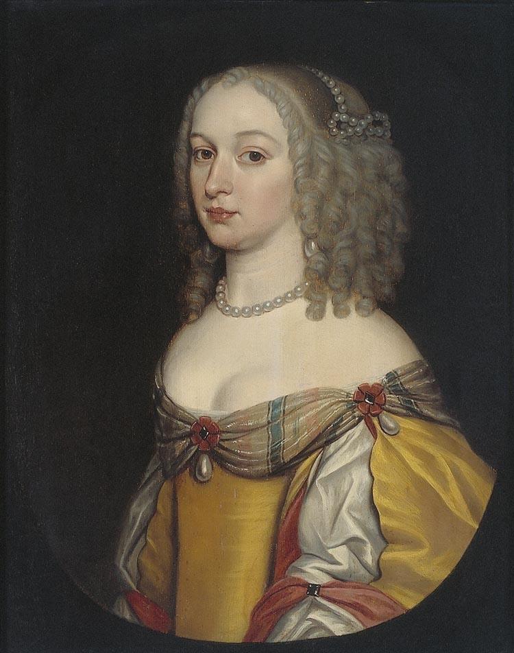 Amalia Margaretha van Brederode (1625-1663), Grandmistress ofL'Ordre de l'Union de la Joye,Gerard van Honthorst 1650/1656: Instituut Collectie NederlandC275