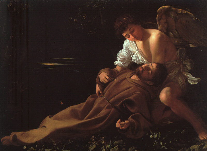 Saint Francis of Assisi in Ecstasy, Caravaggio's first religious painting, c. 1595, Wadsworth Atheneum, Hartford, Connecticut