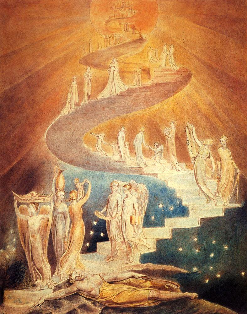 William Blake, Jacob's Ladder, 1800,British Museum, London, England
