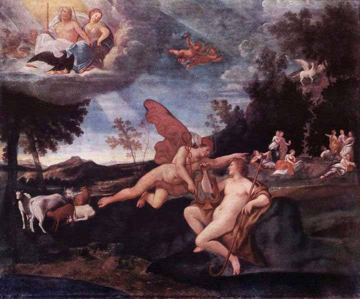 Francesco Albani, Mercury and Apollo, 1623-25, Galleria Nazionale d'Arte Antica, Rome