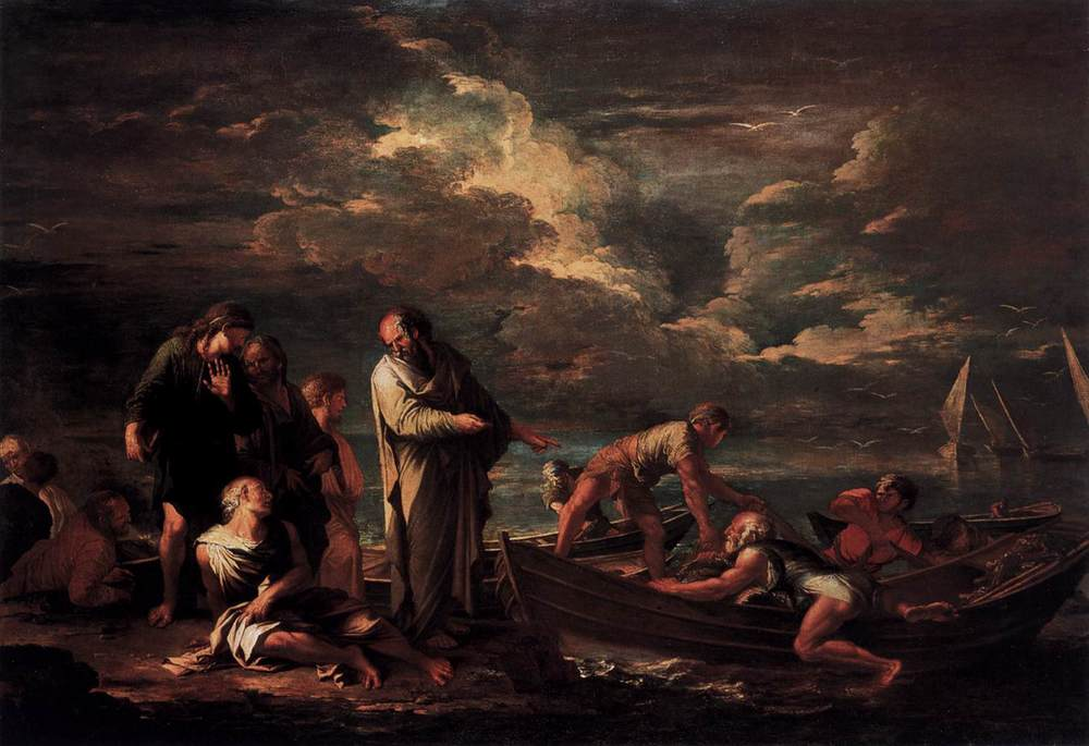 Salvator Rosa, Pythagoras and the Fisherman, 1662, Staatliche Museen, Berlin