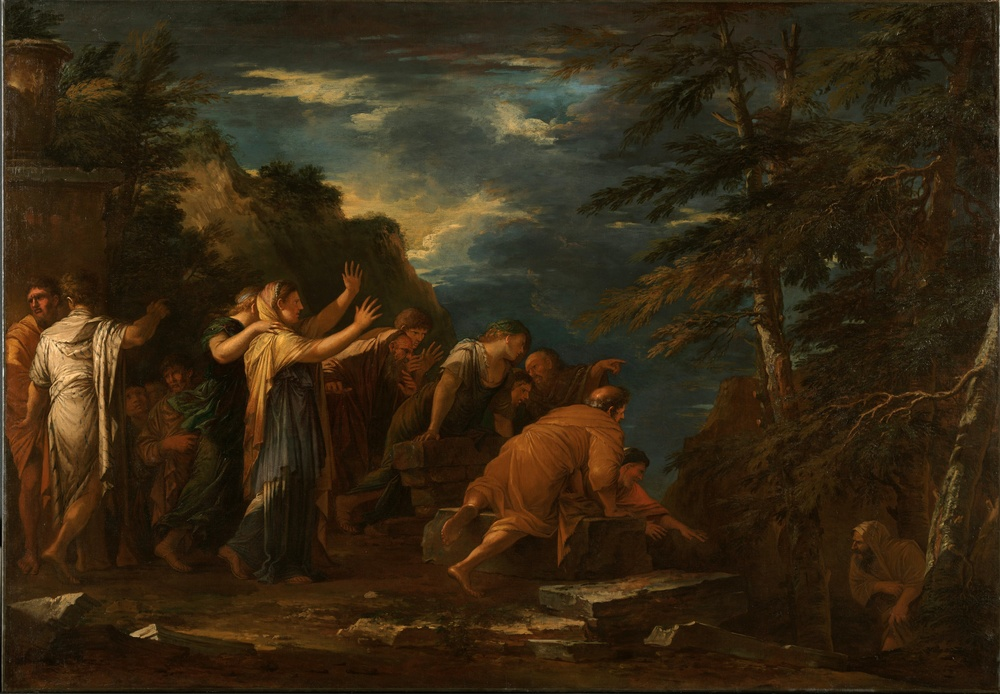Salvator Rosa, Pythagoras emerging from the underworld, 1662, Kimbell Art Museum, Texas