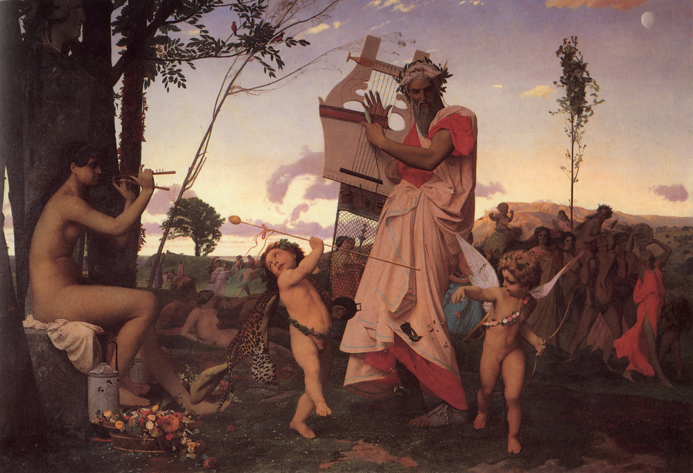 Jean-Leon Gerome, Bacchus and Anacreon Love, 1848, Musée des Augustins, Toulouse