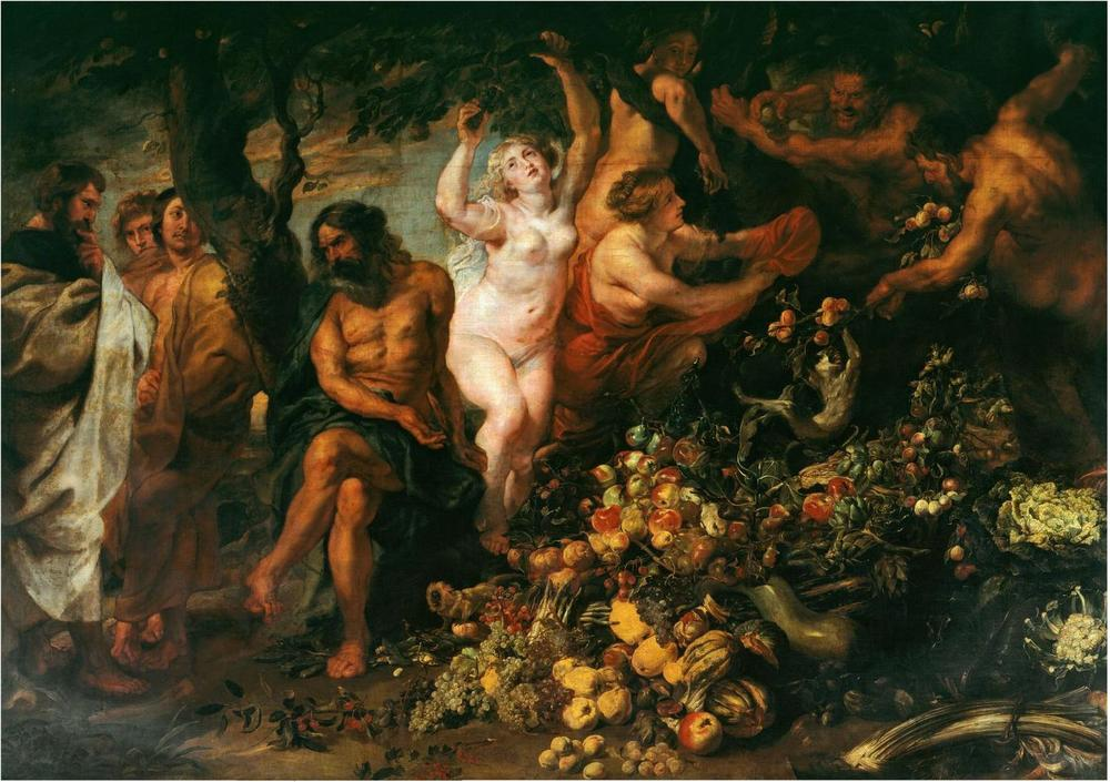 Peter Paul Rubens, Pythagoras advocating vegetarianism, 1618-20, Royal Collection