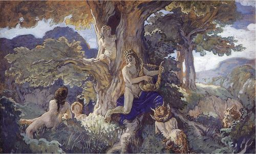 Alexander Benois, Song of Apollo to Dryads and Fauns, 1908, Russian Museum, St. Petersburg