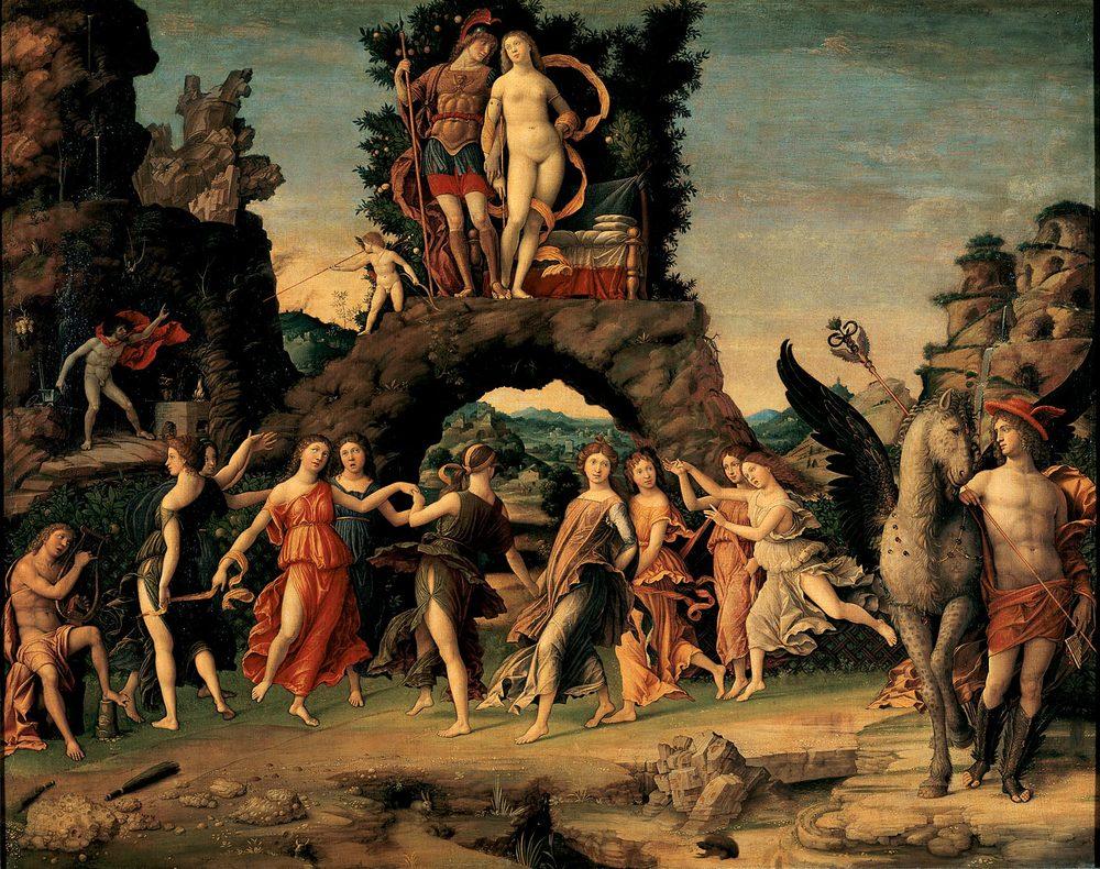Andrea Mantegna, Parnassus, 1496-97, Louvre, Paris