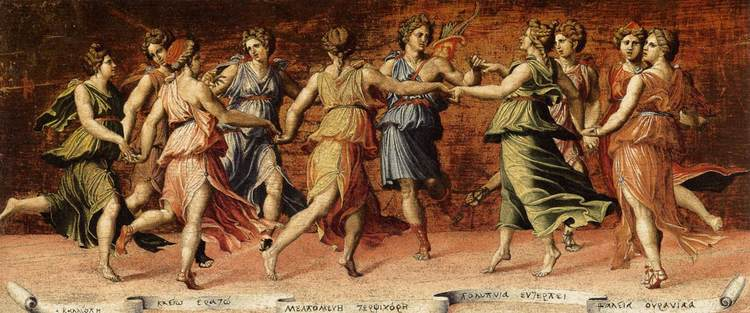 Baldassarre Peruzzi, Apollo and the Muses,1514-1523, Galleria Palatina, Florence