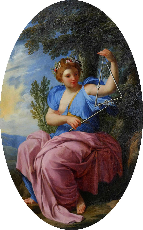 Eustache Le Sueur, Terpsichore,1652-1655, Louvre,Paris