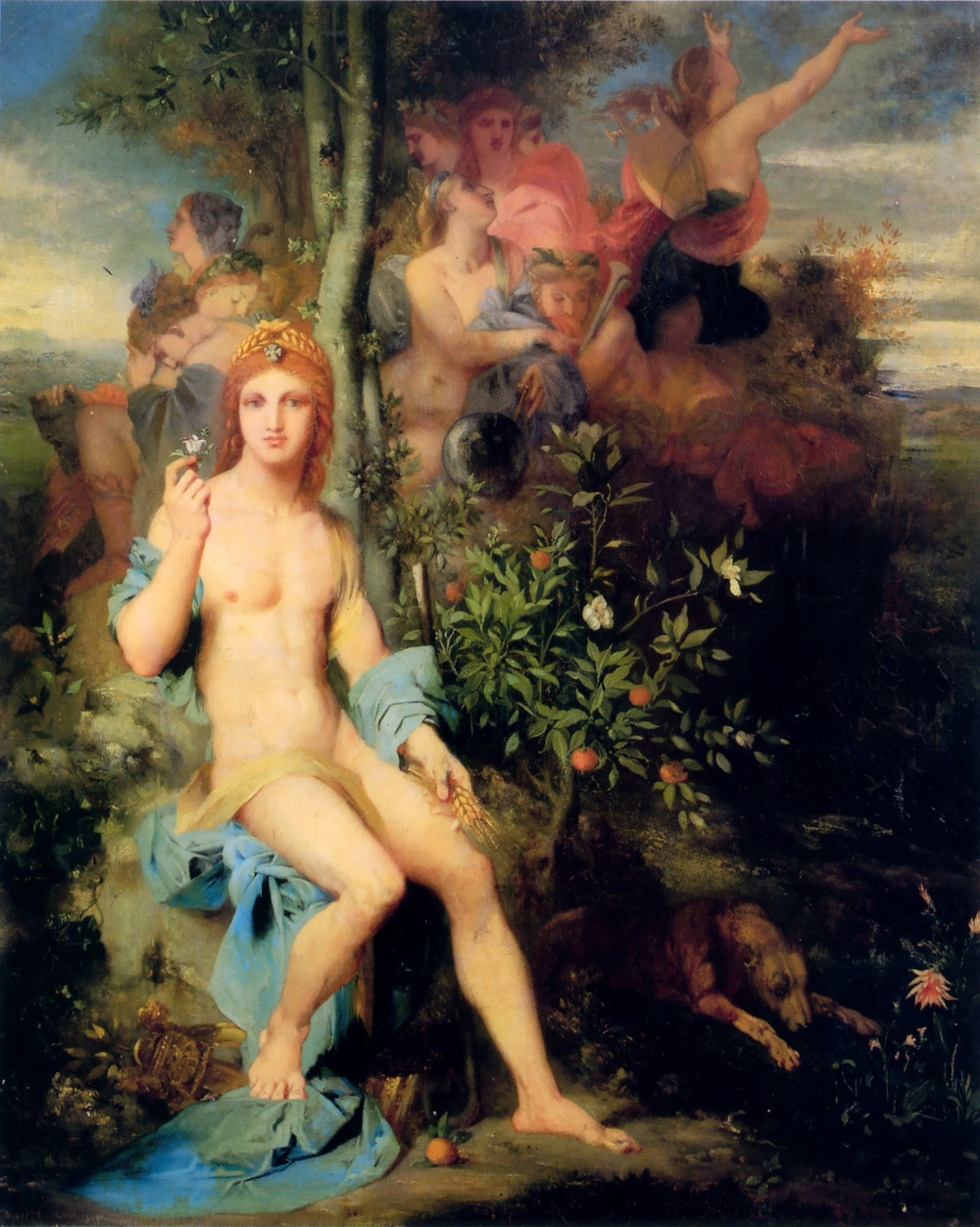 Gustave Moreau, Apollo and the Nine Muses, 1856, Private collection