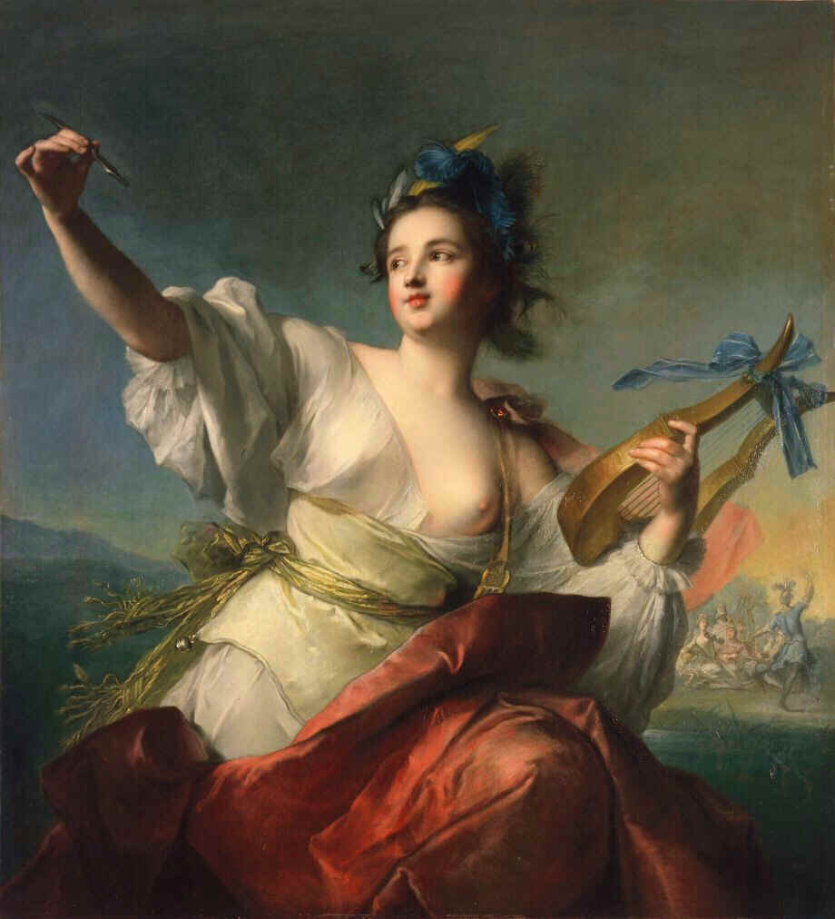 Jean-Marc Nattier, Terpsichore,Muse of Dance,1739, Fine Arts Museum of San Francisco