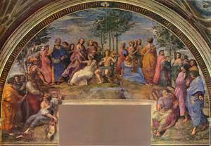 Raphael, Parnassus (Apollo and the Muses), 16th century, papal apartments, Palace of Vatican