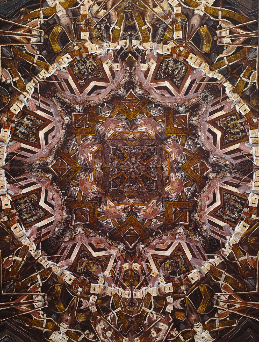 Caomin Xie, Mandala # 12, 2010, oil on canvas, 144 by 109 inches