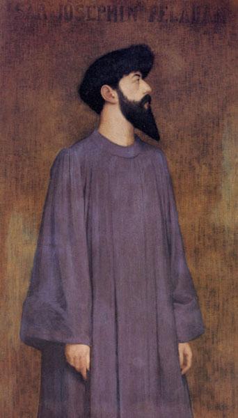 Portrait of Péladan,Alexandre Séon, 1891,musée des beaux-arts de Lyon.