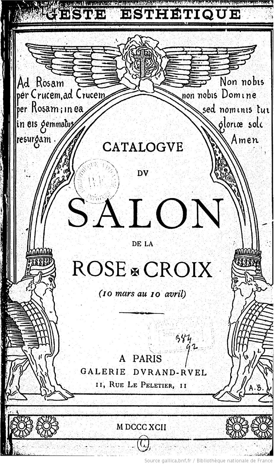 Making the invisible visible p ladan 39 s vision of ensouled for Salon rose croix