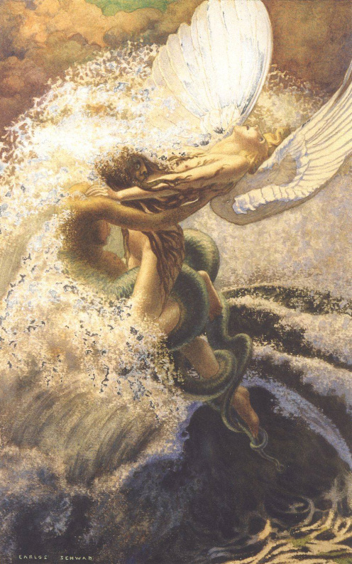 Carlos Schwabe,  Spleen and Ideal , 1907