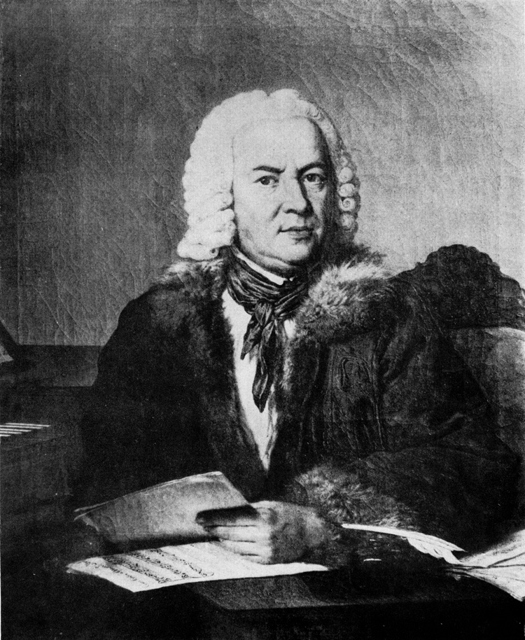 C.F.R. Liszewski, 1772, Portrait of J.S. Bach. Formerly housed in Joachimsthaler Gymnasium in Berlin, and later disappeared during the World War II.