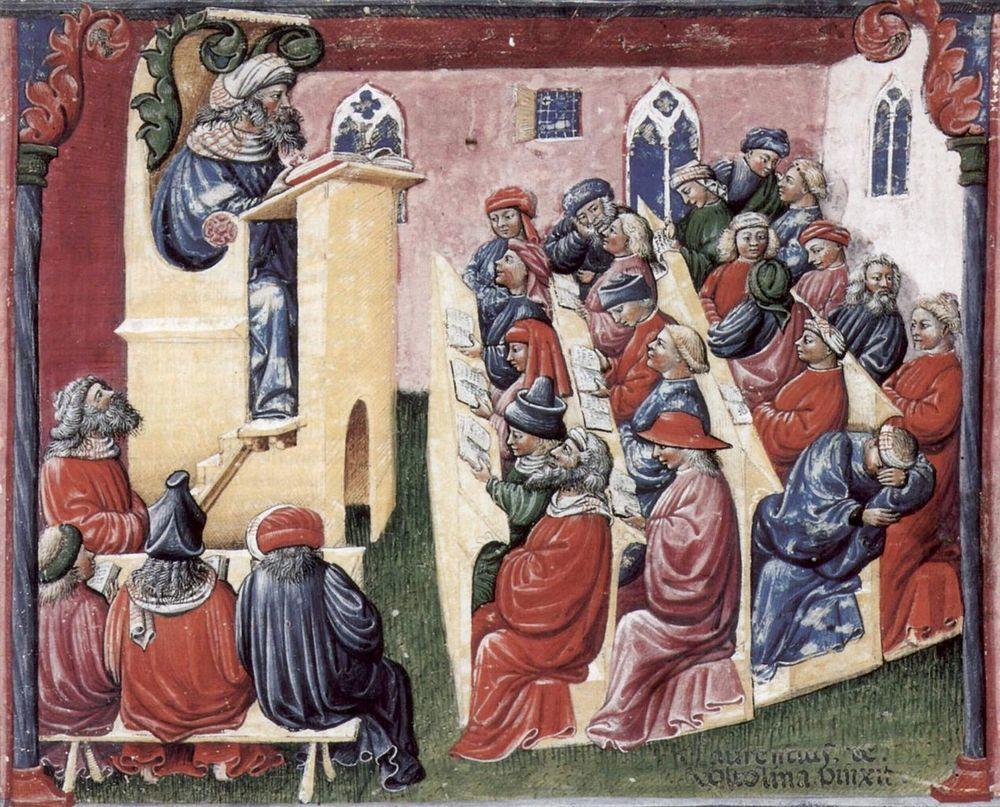 Laurentius de Voltolina's mid-14th Century painting of Henricus de Alemannia