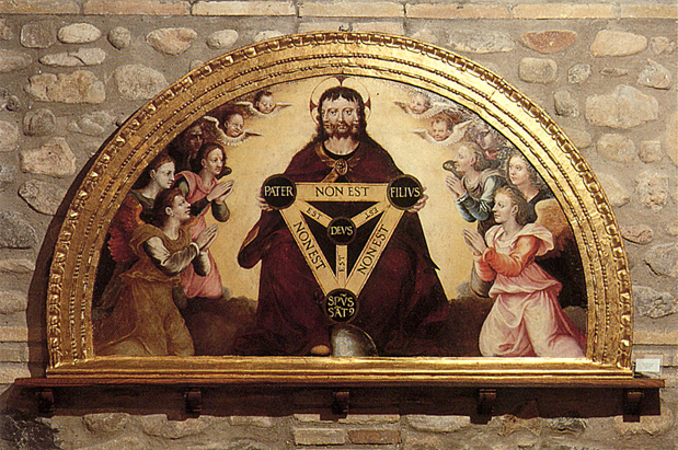 Jerónimo Cósida, The Holy Trinity, fresco, c. 1570, Cisterian Monastery of Tulebras, Spain.