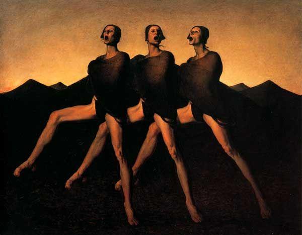 Odd Nerdrum, Three Singers, 1984, Odd Nerdrum Online Museum