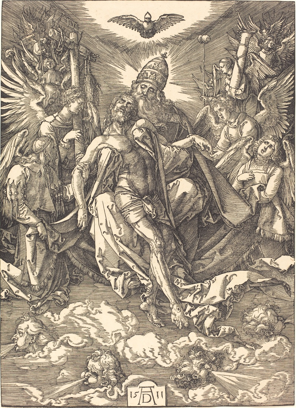 Albrecht Dürer, The Trinity, woodcut, 1511, National Gallery, Washington, DC.