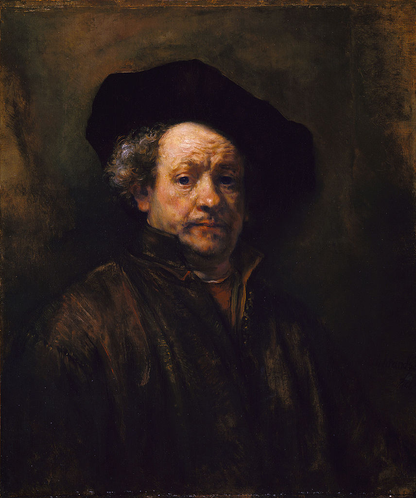 Rembrandt, Self-portrait, oil on canvas, 1660, Metropolitan Museum of Art, New York