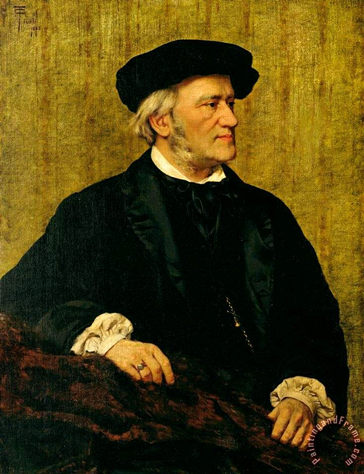 Portrait of Richard Wagner, oil on canvas, 1883, by Giuseppe Tivoli, Civico Museo Bibliografico Musicale, Bologna, Italy