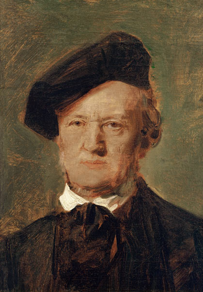 Portrait of Richard Wagner by Franz Seraph von Lenbach, oil on canvas, ca. 1870, Alte Nationalgalerie, Berlin