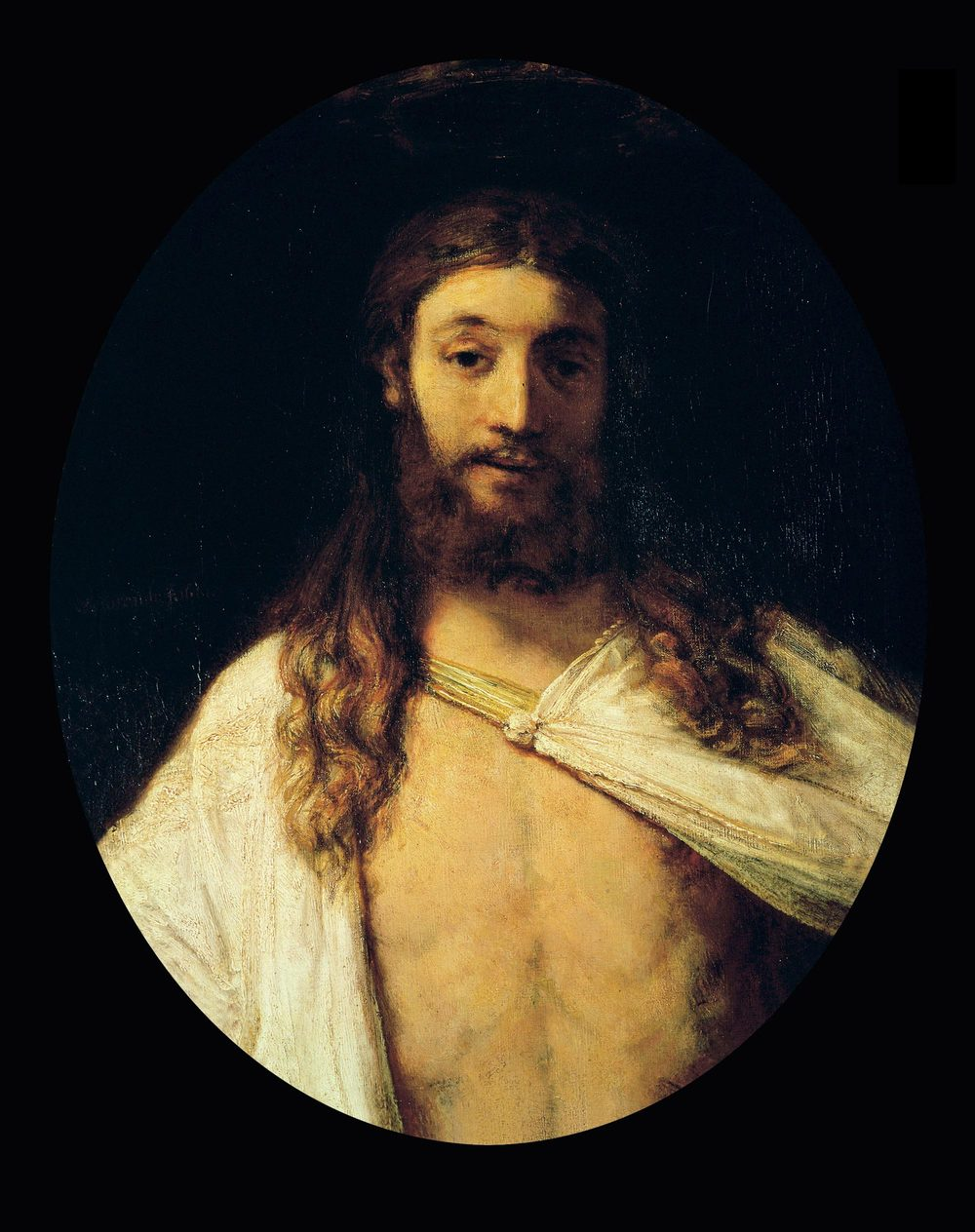 Rembrandt,  The Risen Chris t, oil on canvas, 1658, Alte Pinakothek, Munich