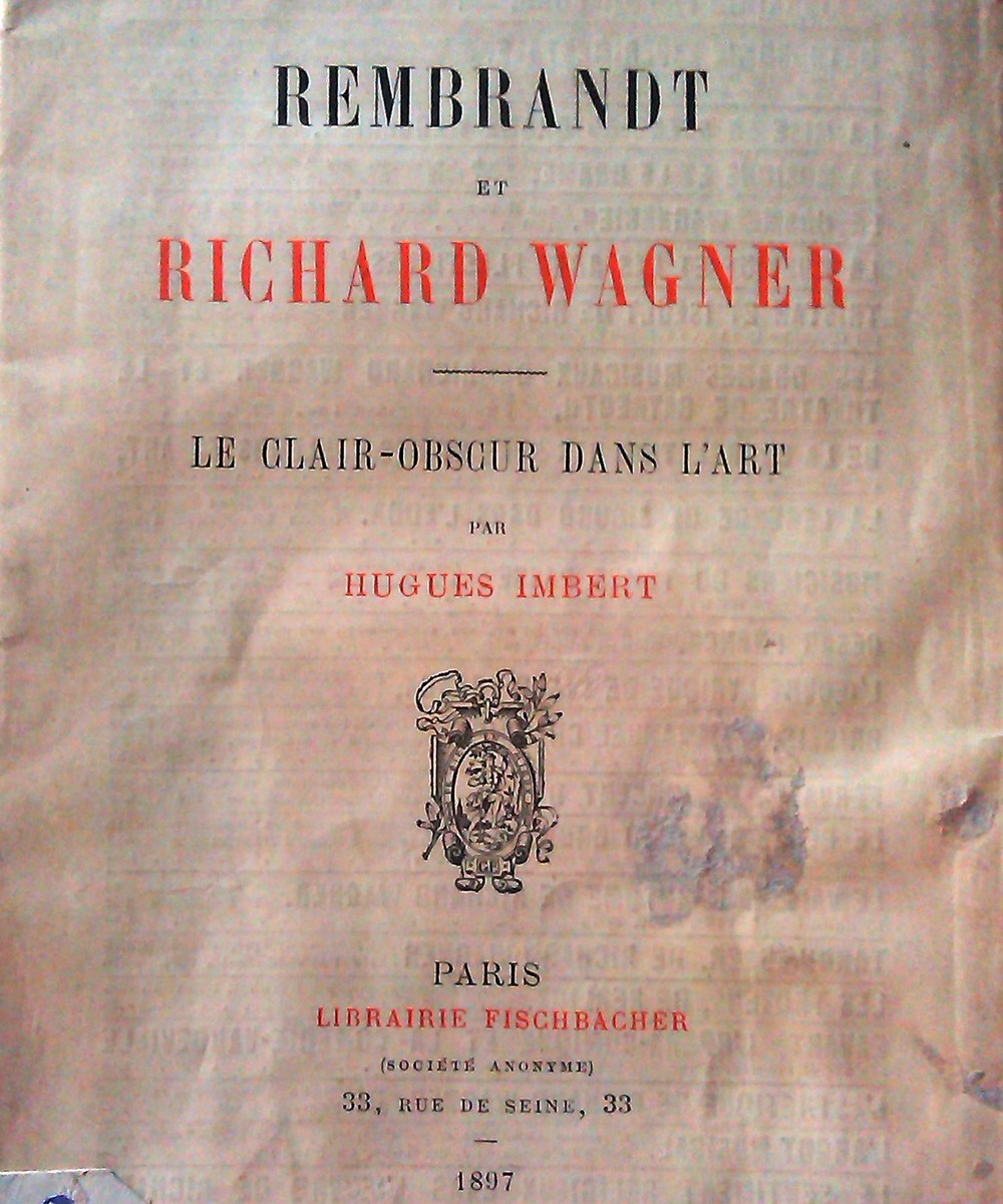 Fragment of the cover of Imbert's essay in French