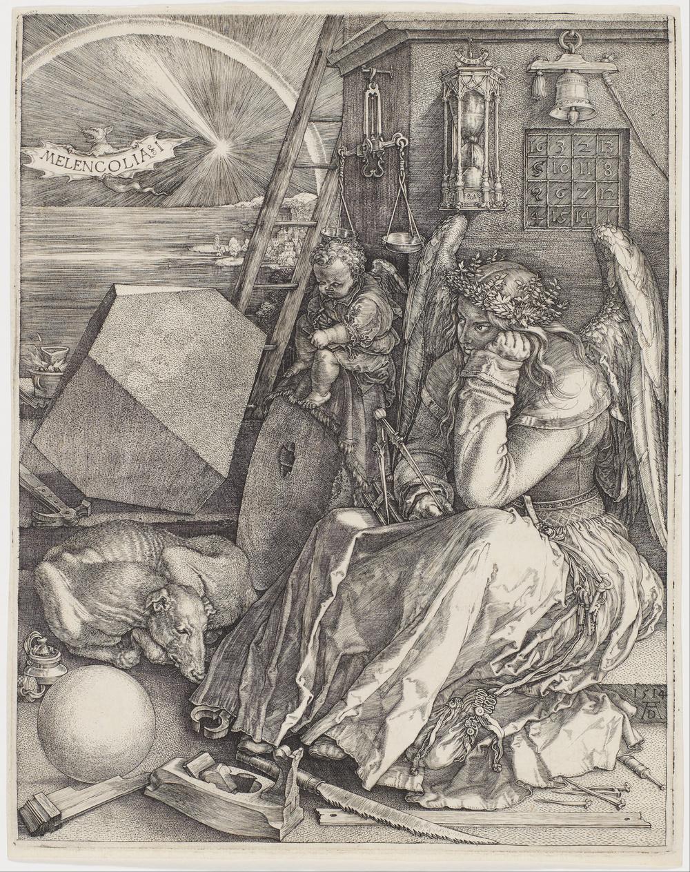 """Albrecht Dürer, """"Melancolia § I"""", 1514"""