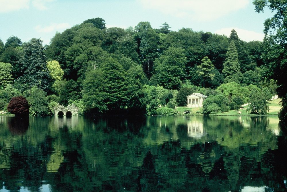 The garden of Stourhead, Wiltshire, reflecting the journey of Aeneas, as told in Virgil's Aeneid.